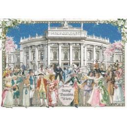 Wien - Burg Theater - Tausendschön - Postkarte