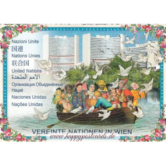 Vienna - United Nations - Tausendschön - Postcard