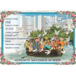 Wien - Vereinte Nationen - Tausendschön - Postkarte