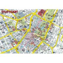 Stuttgart - Map - Postcard