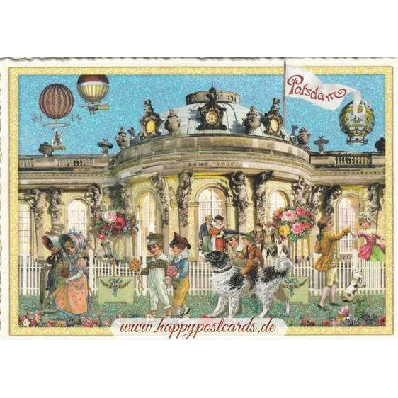Potsdam - Sans Souci - Tausendschön - Postcard