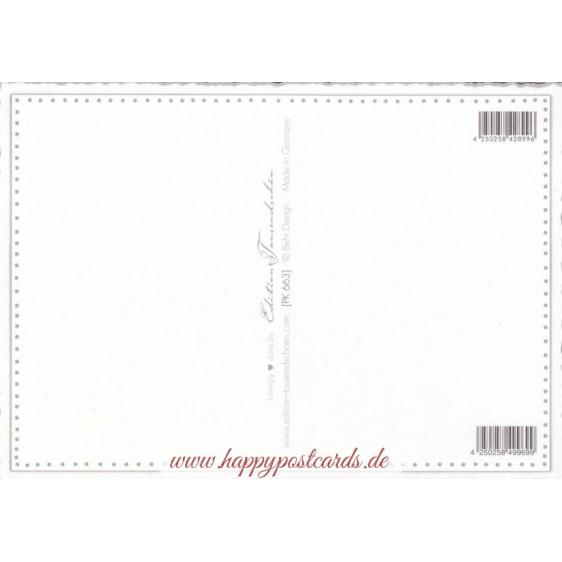 Dahlien - Tausendschön - Postkarte