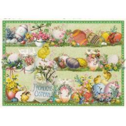 Fröhliche Ostern - Easter Eggs - Tausendschön - Postcard
