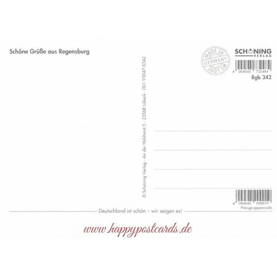 Regensburg - Heart - Viewcard
