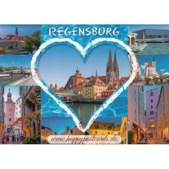 Regensburg - Herz - Ansichtskarte
