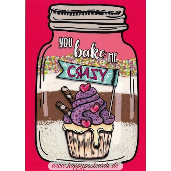 You bake me crazy - Moment mal - Postcard