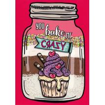 You bake me crazy - Moment mal - Postkarte
