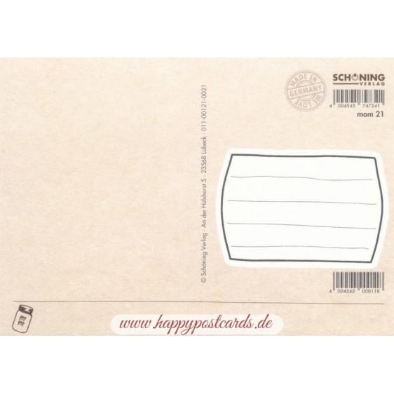 Time to travel - Moment mal - Postkarte