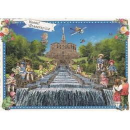 Kassel - Wasserspiele  - Tausendschön - Postkarte