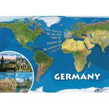Germany - map - Viewcard