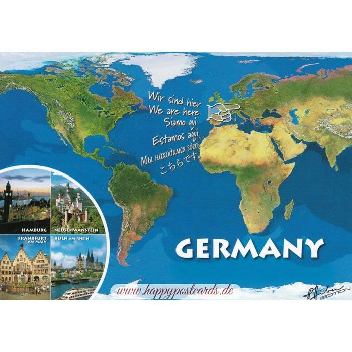 Map Of Germany Coast.Viewcards Maps Germany Map Viewcard Fotoverlag Huber