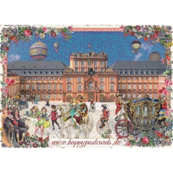 Mannheim - Castle - Tausendschön - Postcard