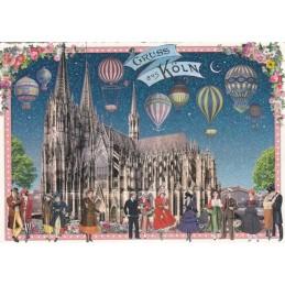 Köln - Dom 2 - Tausendschön - Postkarte
