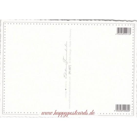 Violin - Tausendschön - Postcard
