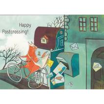 Happy Postcrossing - Postbote - Postkarte