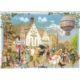 Frankfurt -Römer - Tausendschön - Postkarte