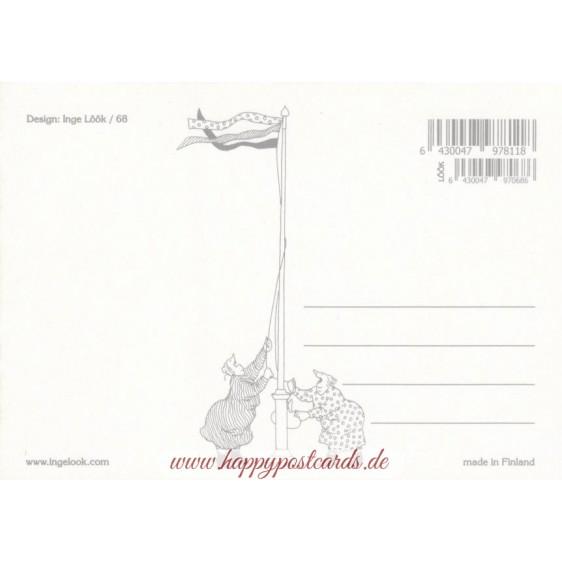 68 - Old Ladies on a tandem - Postcard