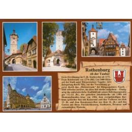 Rothenburg o.d. Tauber - Chronikkarte