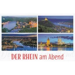 Der Rhein am Abend - HotSpot-Card