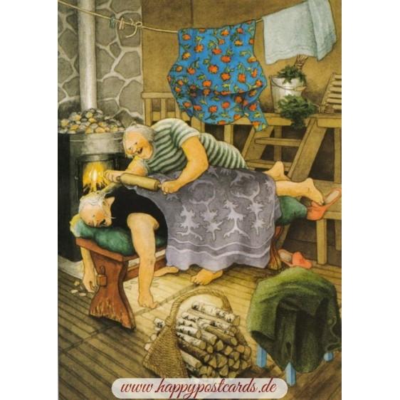 69 - Old Ladies doing Wellness - Postcard