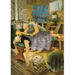 69 - Frauen beim Wellness - Löök Postkarte