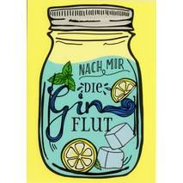 Gin Flut - Moment mal - Postcard