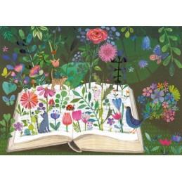 Buch mit Blumen - Mila Marquis Postkarte