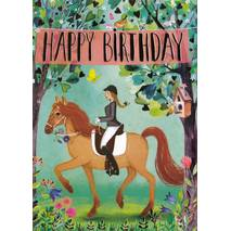 Happy Birthday - Horsewoman - Mila Marquis Postcard
