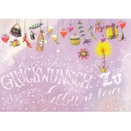Geburtstag - Geschenke - Nina Chen Postkarte