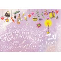 Geburtstag - Presents - Nina Chen Postcard