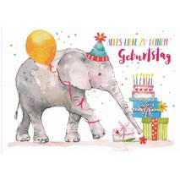 Alles Liebe zum Geburtstag - Elephant - Carola Pabst Postcard