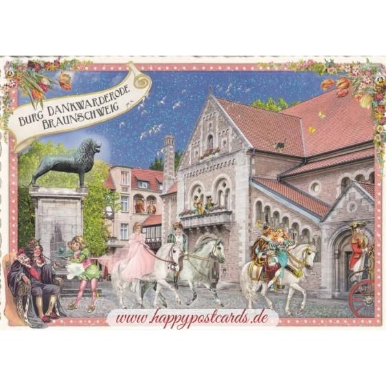 Braunschweig - Burg Dankwarderode - Tausendschön - Postcard