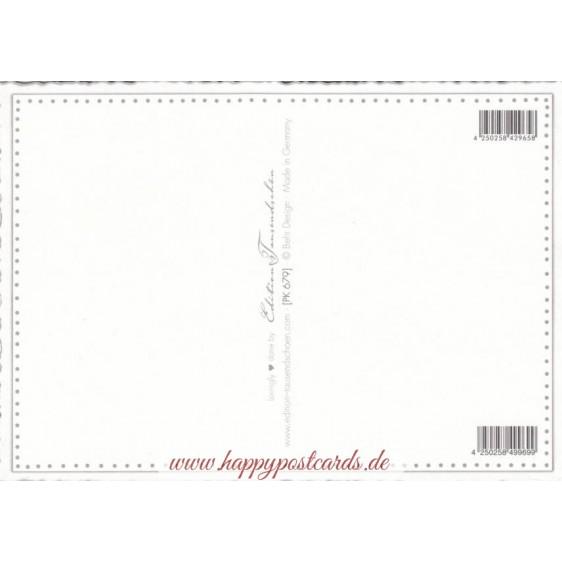 Pfingstrose - Tausendschön - Postkarte
