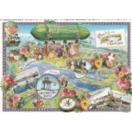 Bodensee - Friedrichshafen - Tausendschön - Postkarte