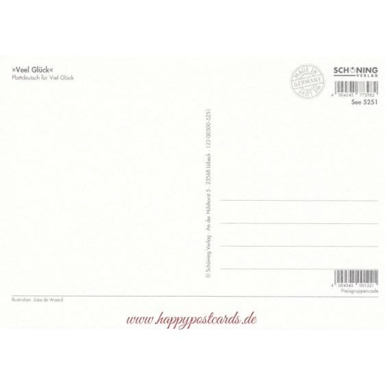 Veel Glück - de Waard postcard