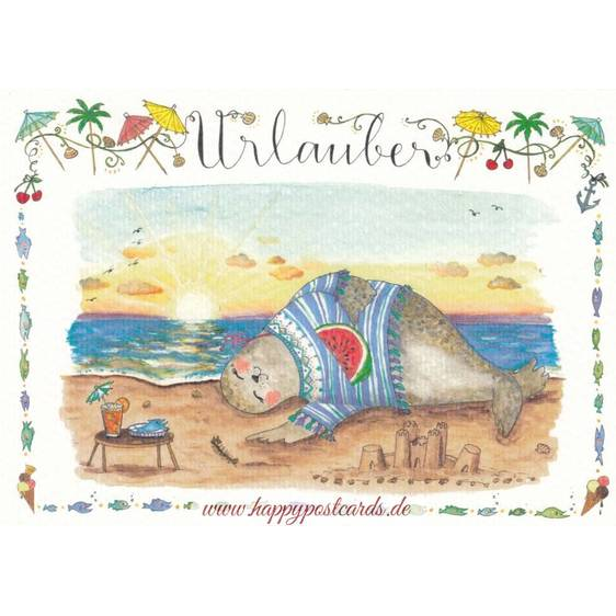 Urlauber - de Waard Postkarte