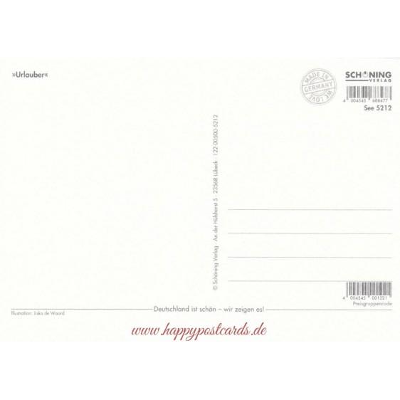 Urlauber - de Waard postcard