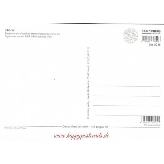Ahoi - de Waard Postkarte