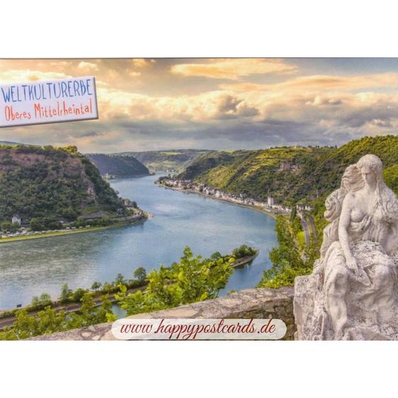 Oberes Mitelrheintal - Loreley - Viewcard