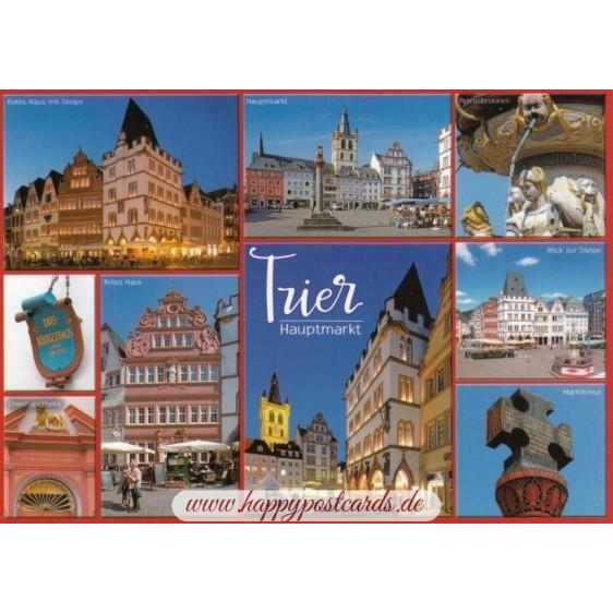 Trier - Hauptmarkt - Ansichtskarte