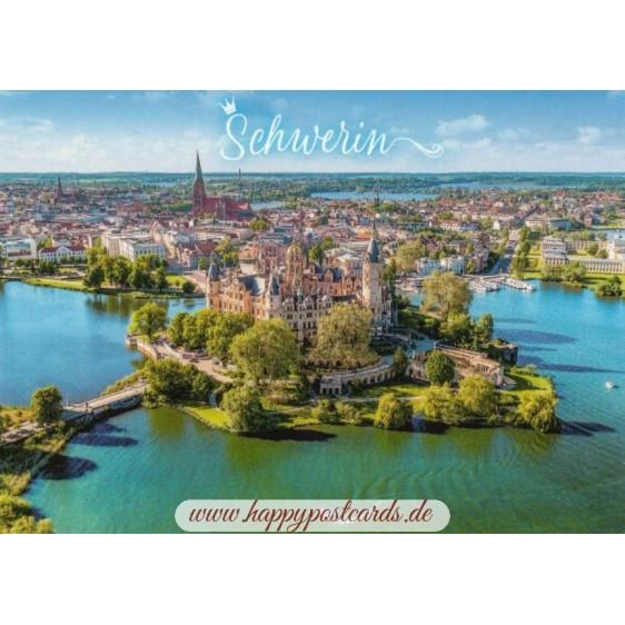Schwerin - aerial view - Viewcard
