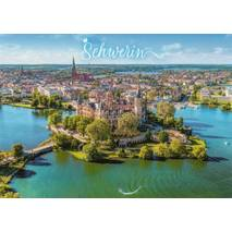 Schwerin - aerial view - Viewcard