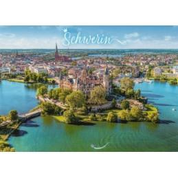 Schwerin - Luftaufnahme - Ansichtskarte