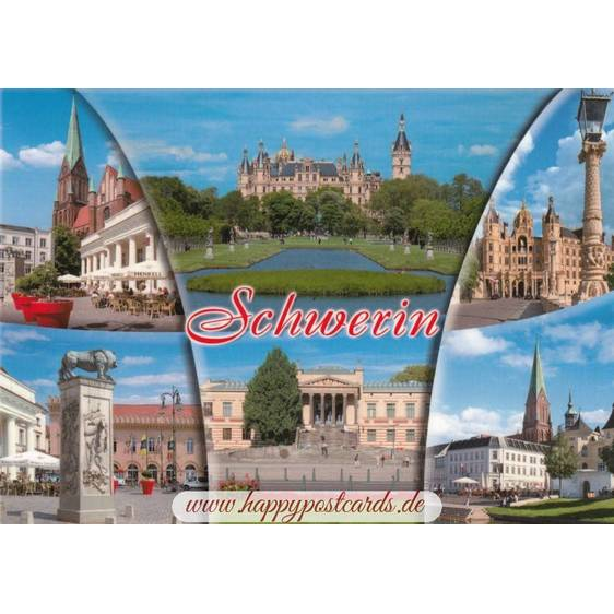 Schwerin - Multi - Viewcard