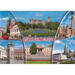 Schwerin - Multi - Ansichtskarte