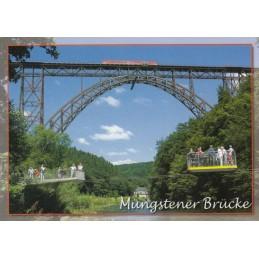 Solingen - Müngstener Brücke und Schwebefähre - Ansichtskarte