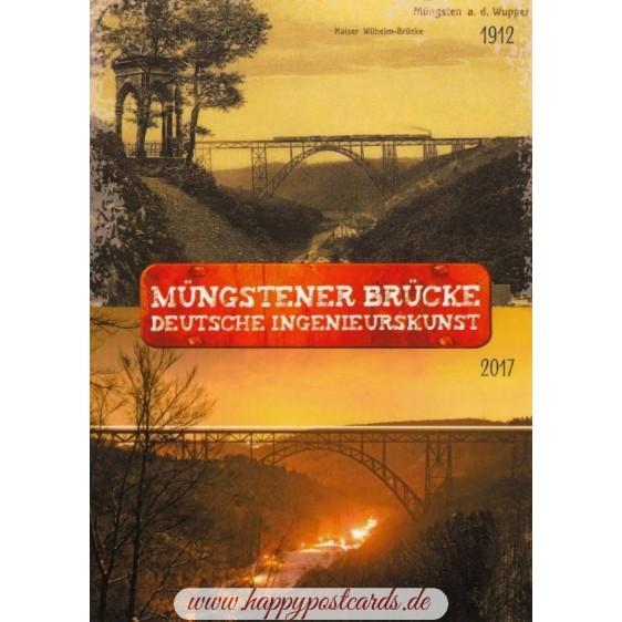 Solingen - Müngstener Brücke - Deutsche Ingenieurskunst - Ansichtskarte