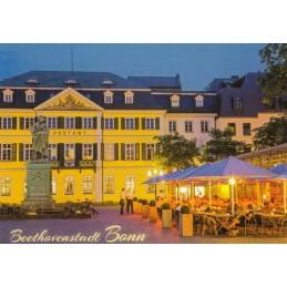 Bonn - Abendlicher Beethovenplatz - Ansichtskarte