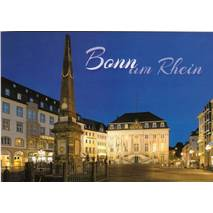 Bonn - Townhall at night - Viewcard