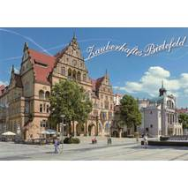 Bielefeld - Old Townhouse and theatre - Viewcard